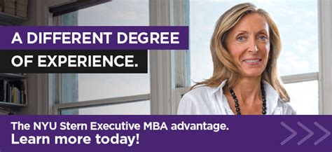 Executive Mba With 2 Years Experience by Mba For Executives Nyu Emba Program
