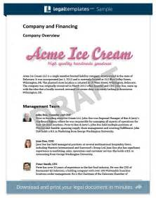 Sole Proprietorship Business Plan Template by Business Plan Template Create A Free Business Plan