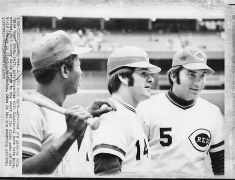 johnny bench and pete rose 17 best images about big red machine on pinterest ken