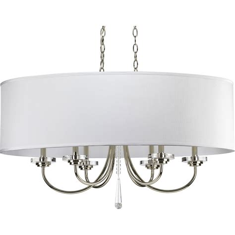 Progress Lighting P4431 104 Nisse Oval Shade Chandelier Chandelier With Shade