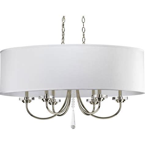 oval drum pendant light progress lighting p4431 104 nisse oval shade chandelier