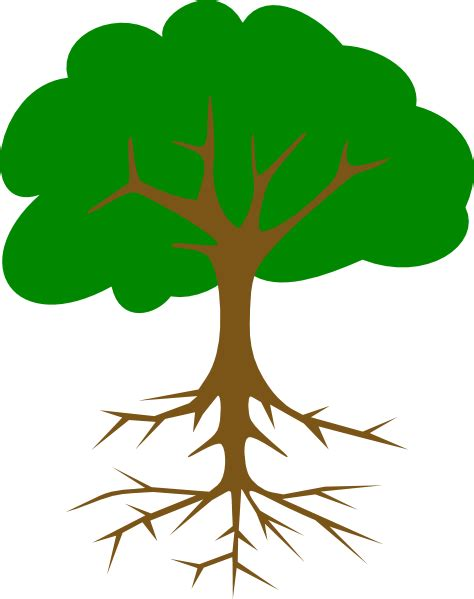 Clipart Tree With Roots tree with roots clip at clker vector clip royalty free domain