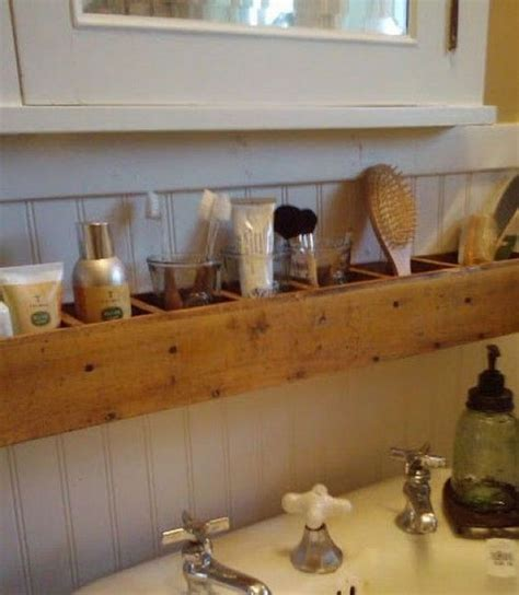 storage ideas for bathrooms best 25 pallet bathroom ideas on pallet