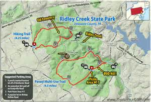 Oak Mountain State Park Map by Ridley Creek State Park The Little Gsp