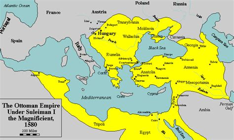 Ottoman Empire Map 1500 Maps Ottoman Empire