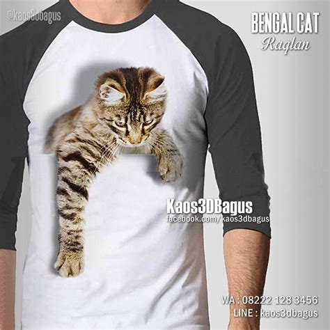 T Shirt Kaos 3d Coc 4 kaos kucing kaos cat lover kaos3d kaos pecinta kucing
