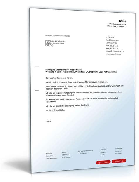 Vorlage Kündigung Arbeitsvertrag Bitte Aufhebungsvertrag K 252 Ndigung Mietvertrag Durch Mieter Muster Zum