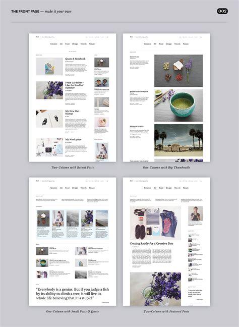 magazine layout options zuki the newest super flexible minimal wordpress