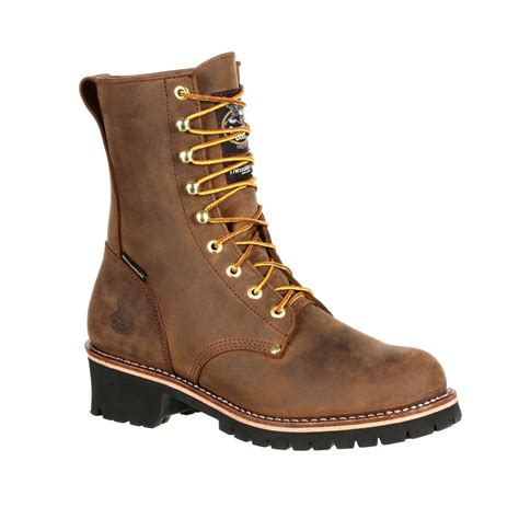 insulated mens work boots gb00065 steel toe waterproof insulated mens 8