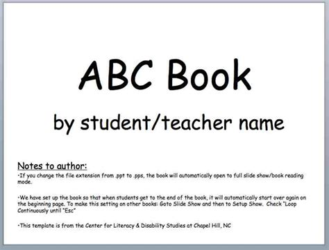 5 best images of abc book printable template free