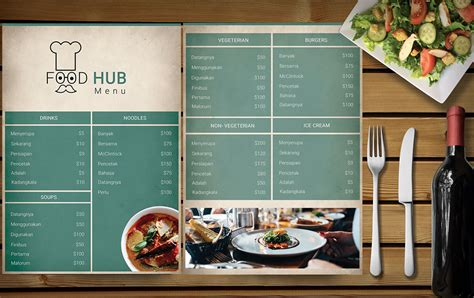template for menu card design 50 free psd restaurant flyer menu templates