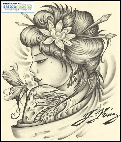 geisha girl tattoo design geisha drawing at getdrawings free for
