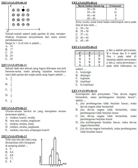 Mendadak Ujian Nasional Sma Ma Ips matematika di sma soal ujian nasional matematika ips sma