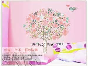 Grosir Murah Wallpaper Sticker Dinding Bunga Pink 10 M X 45cm stiker tembok bunga stiker dinding murah