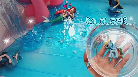 tutorial thai slime mermaid swimming pool slime super clear holdable solid