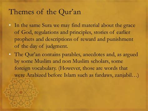 quranic themes and principles ara 101 4 qur an an introduction