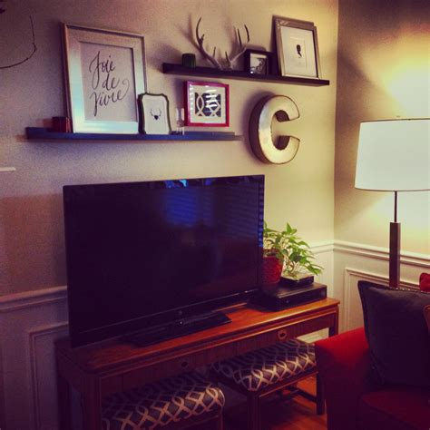 tv decor picture ledges above tv for the home pinterest