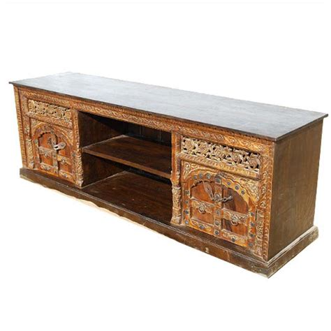 Solid Wood Media Cabinet by Palace Gates Cabinet Solid Wood Rustic Tv Media Console