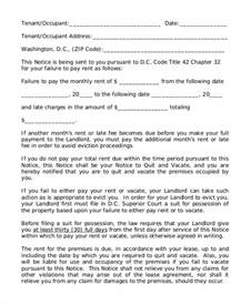 Tenant Eviction Massachusetts Sle Of 30 Day Eviction Notice 7 Exles In Word Pdf