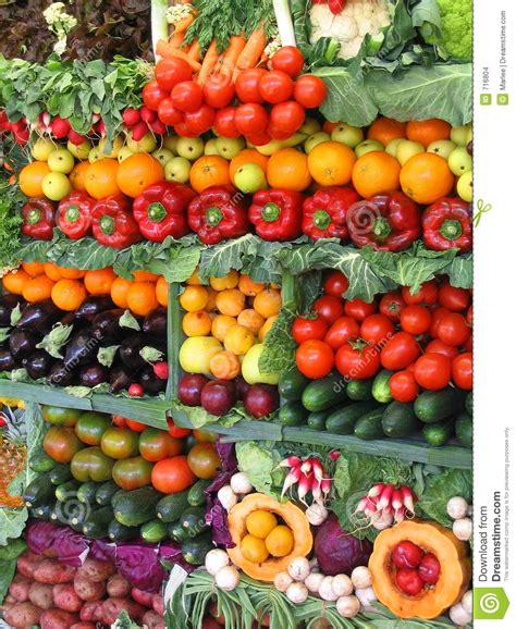 colorful vegetables and fruits stock images image 716804