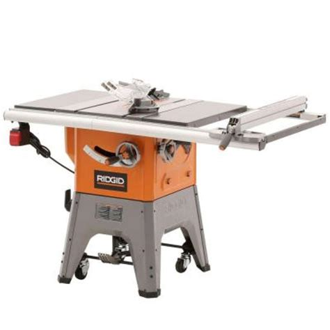 ridgid 13 10 in professional cast iron table saw