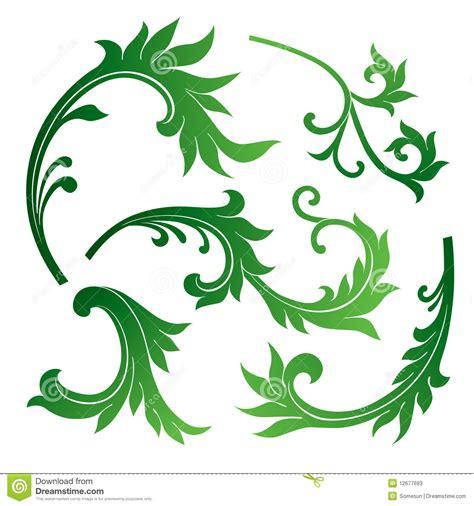floral design elements vector set vector set of floral design elements stock vector image