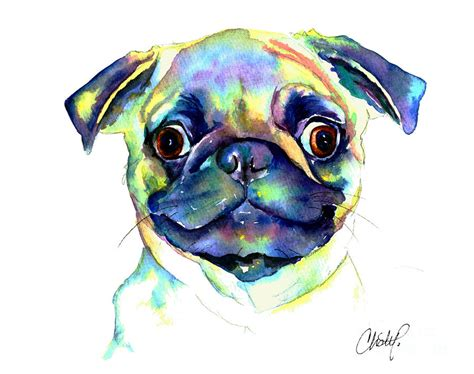pug painting eyed pug painting by freeman