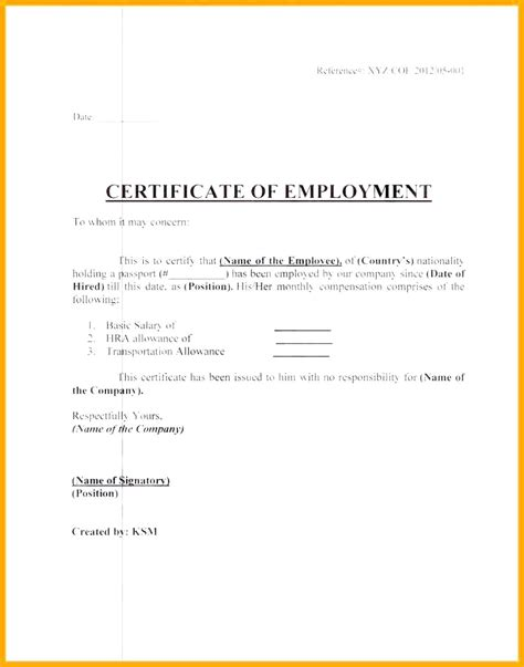 template certificate of employment deped certificate of employment sle choice image