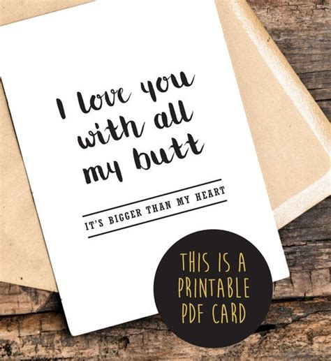 printable valentines card for him funny printable love you card funny printable by