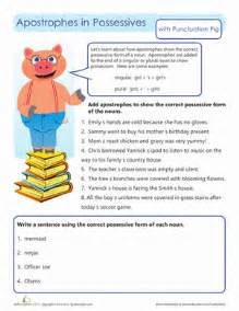 possessive apostrophes worksheet education com