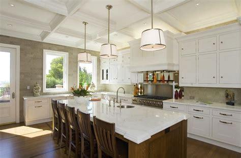 kitchen cabinets island shelves cabinetry white walnut robert abbey chase pendant transitional kitchen