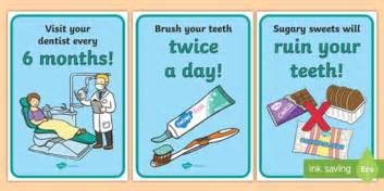 dentists dental surgery role play display posters