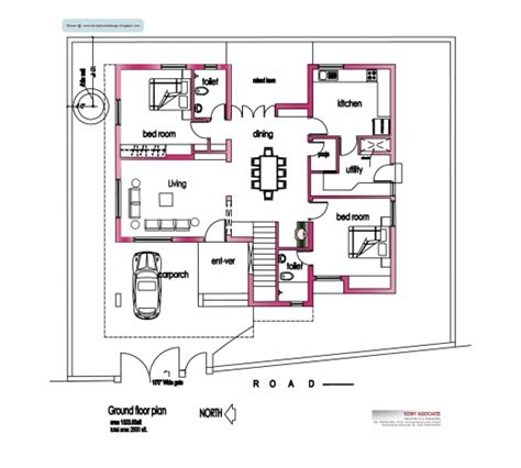 Image Detail For Modern House Plan 2800 Sq Ft Kerala Home Design Architecture Home | gorgeous image detail for modern house plan 2800 sq ft