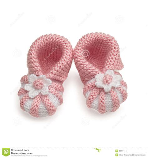 Baby Handmade - newborn baby shoes handmade stock photography