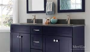 Merillat Bathroom Cabinets Merillat Masterpiece 174 Martel In Maple Midnight Painted Merillat