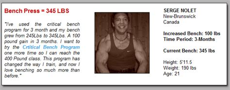 bench press chart by age and weight age bench press chart benches