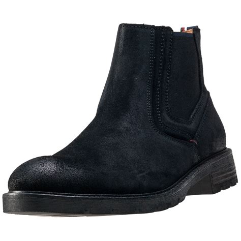 hilfiger mens boots hilfiger curtis 15b mens chelsea boots in black