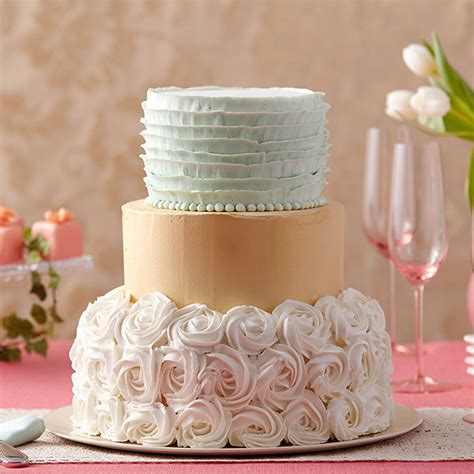 Wilton Wedding Cakes by Golden Shimmer Rosette Cake Wilton