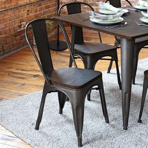 industrial dining room chairs best 25 metal dining chairs ideas on metal