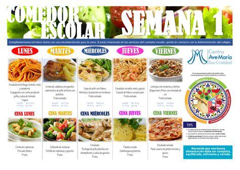 menu comedor escolar emejing menus comedores escolares images casas ideas