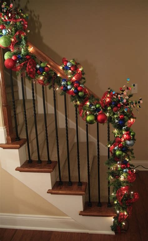 banister christmas ideas 21 colorful christmas decoration ideas feed inspiration