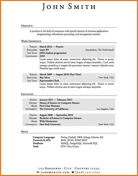 time resume templates resume template time resume template