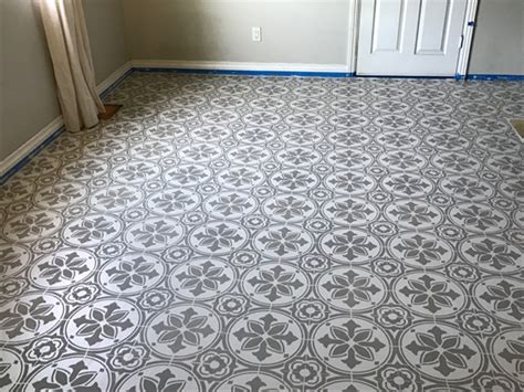 tile floor template jazz up an kitchen floor with a tile stencil stencil