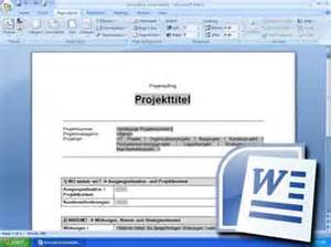 Word Vorlage Projektdokumentation Projektauftrag Projektmanagement Freeware