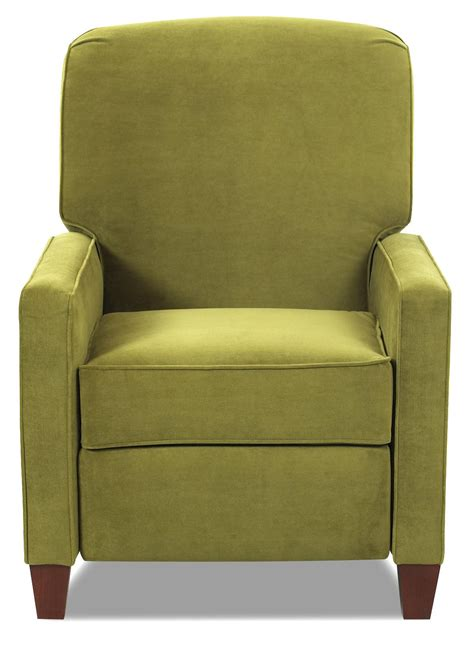 high leg recliner chairs high leg contemporary recliner by klaussner wolf and