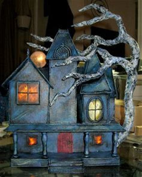 How To Make A Haunted House Out Of Paper - houses on gingerbread