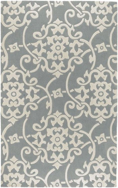 Grey Kitchen Rugs Gray Damask Rug By Elva For Office Kitchen Pinterest