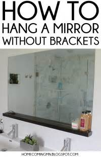 How To Mount Bathroom Mirror Home Coming How To Install A Bathroom Mirror Without Brackets