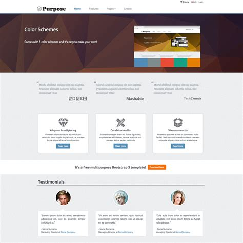 Mpurpose Free Responsive Ecommerce Website Template E Commerce About Us Template