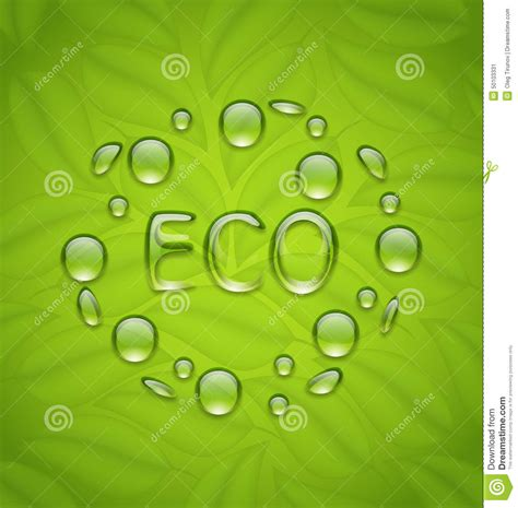 background friendly eco friendly background with water drops on fresh green